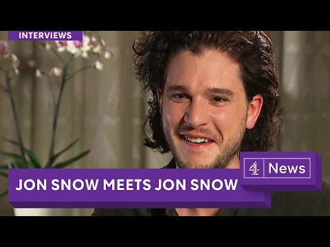 Jon Snow (Game of Thrones) meets Jon Snow (Channel 4 News)