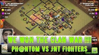 #5 Clash of Clans - PH@NTOM vs JNT Fighters 🌟 🌟 🌟 || Amazing war attacks | We won the clan war HD