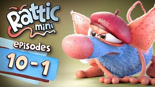 Funny Cartoon Series | Rattic Mini 10-1 Episodes | Funny Animated Cartoon Series For Children