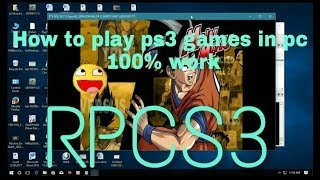 [2018] How to install rpcs3 emulator and dragon ball z burst limit game in pc