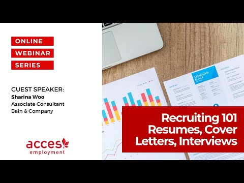 Recruiting 101: Resumes, Cover Letters, Interviews & More!