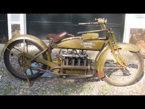 Henderson Motorcycle 1918 Model H Start Up Walk Around