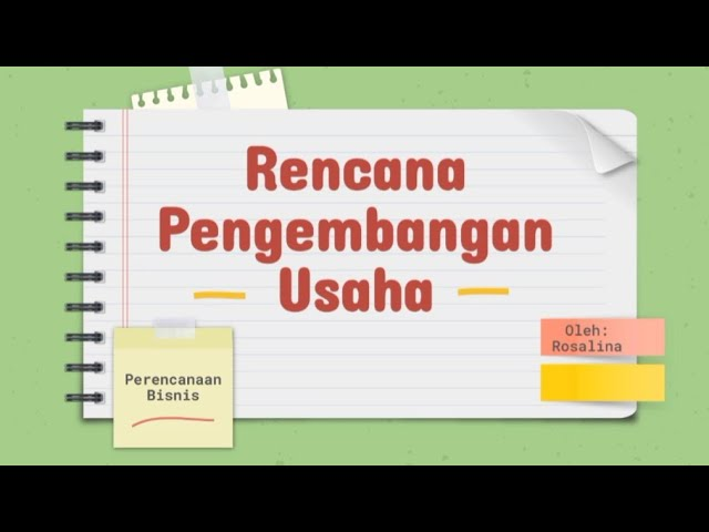 Rencana Pengembangan Usaha/ Perencanaan Bisnis Materi Belajar SMK - YouTube