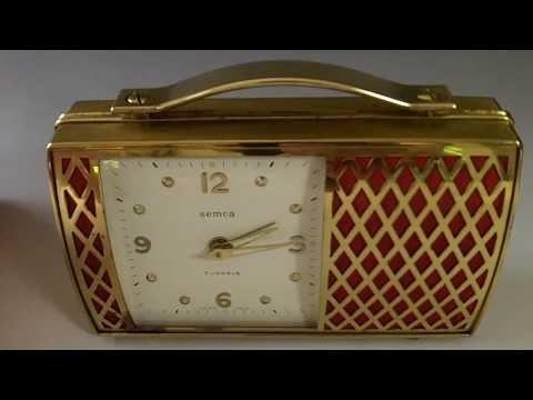 Swiss musical alarm clock reuge music box