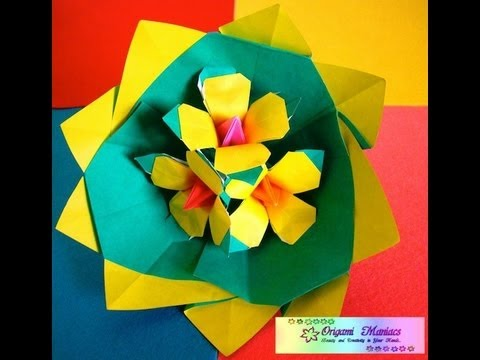 Origami Maniacs 75: Beautiful Origami Yellow Flowers