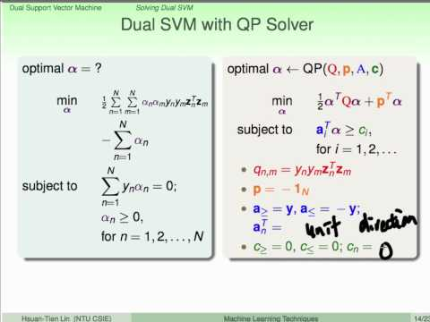 Dual Support Vector Machine :: Solving Dual SVM @ Machine Learning Techniques (機器學習技法)