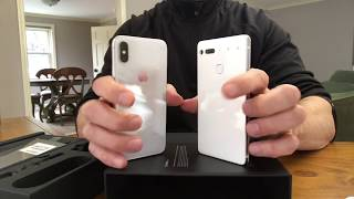 IPhone X vs White Essential Phone Comparison VISUAL ONLY