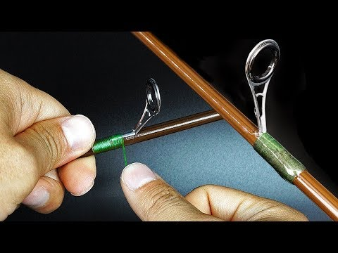 Rod Repair/How To Fix A Guide On The Fishing Rod [Wrapping And Epoxy]