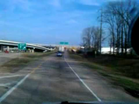Driving Through Shreveport LA by  Hwy 3132 & I49