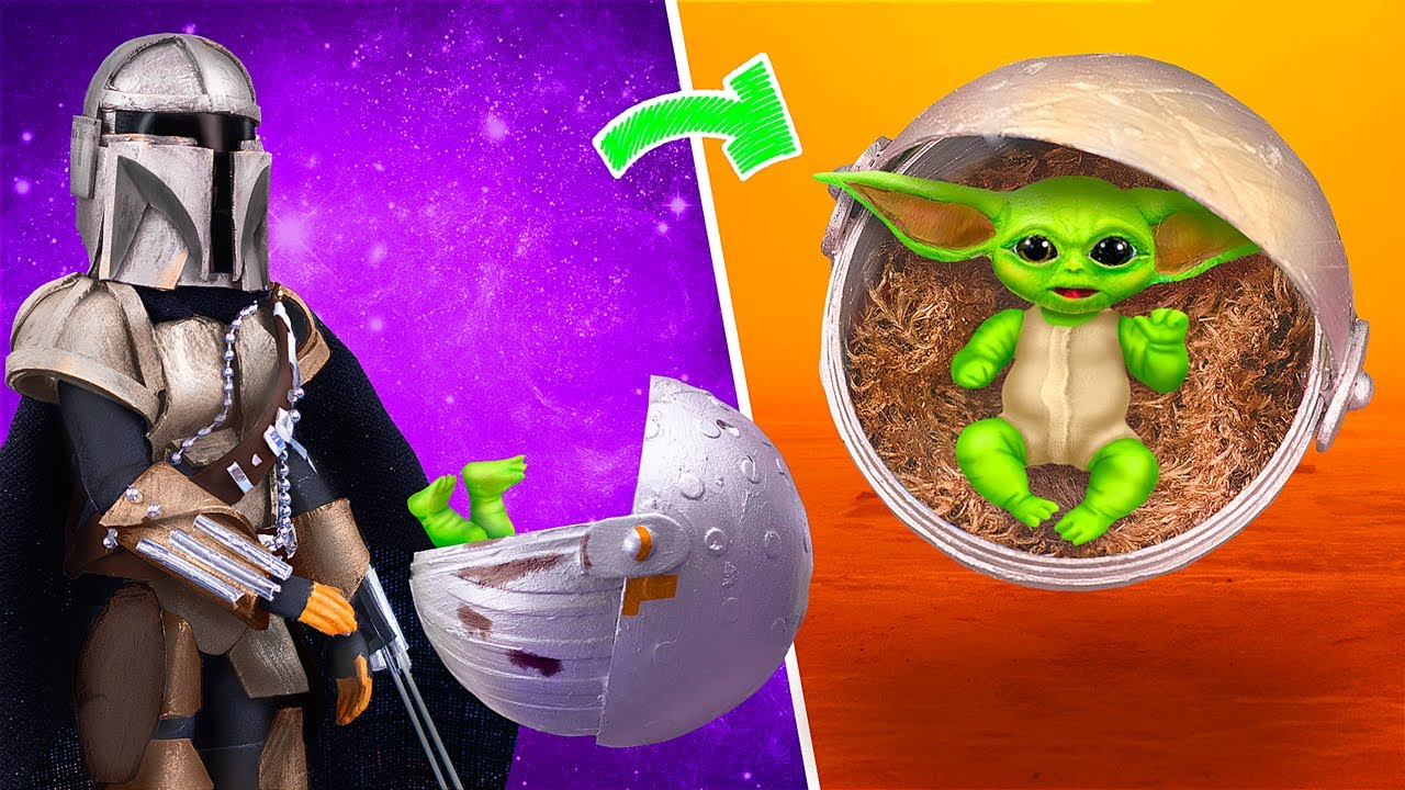 10 Trucos y Manualidades para Muñecas Bebés / ¡Bebé Yoda, Cuna y más cosas en Miniatura!