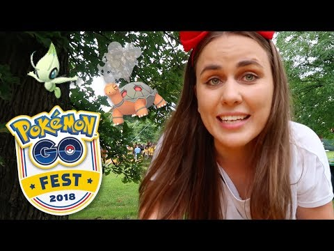 GO FEST 2018! PART 1 - SHINIES, MEETUPS & CELEBI QUEST | Pokemon GO | ZoeTwoDots