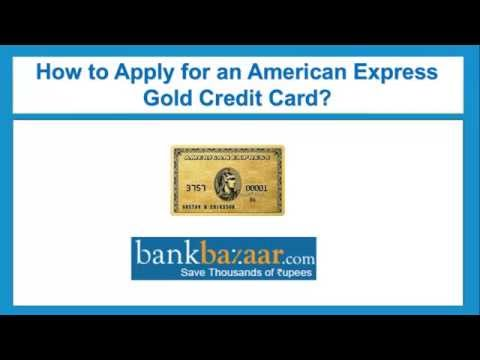 How To Apply For An American Express Gold Credit Card ?
