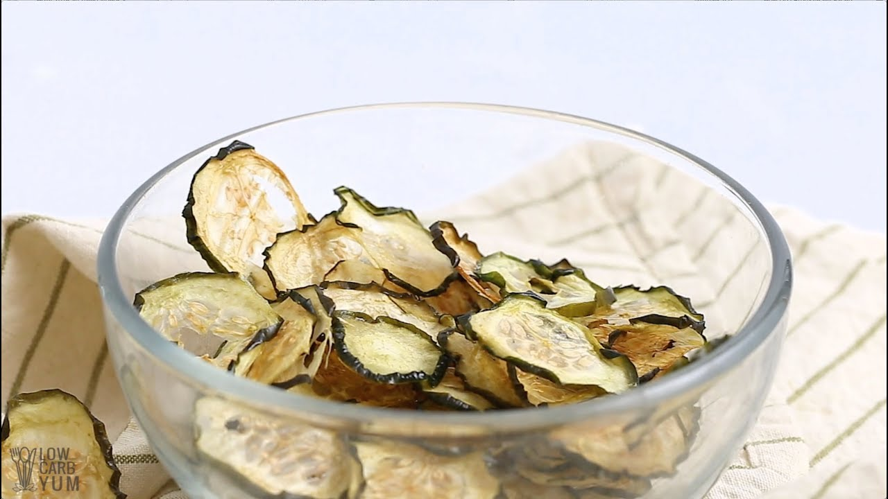 How to Make Baked Cucumber Chips - YouTube