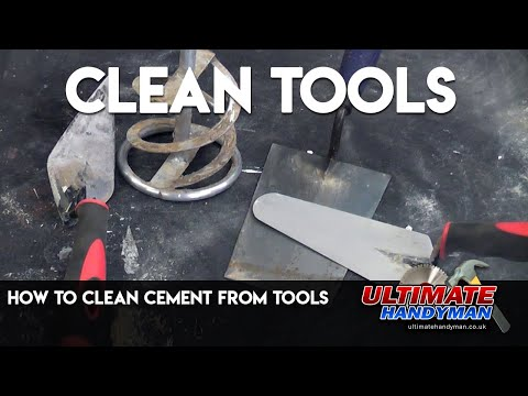 How to clean cement from tools