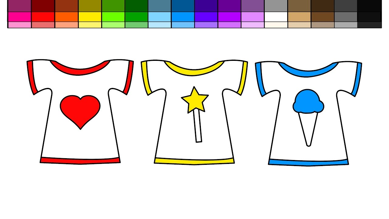 Learn Colors for Kids and Color Ice Cream Heart Star Wand Tshirt ...