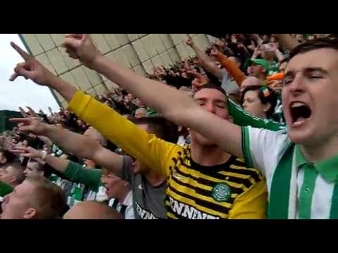 Celtic Fans - Come On You Bhoys In Green 07/04/2012