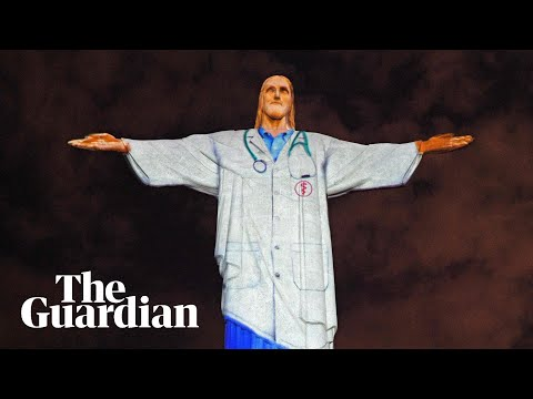 Christ the Redeemer statue lit up as doctor in coronavirus tribute