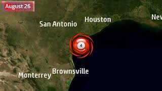 The track of Hurricane Harvey