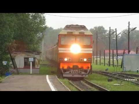 ТЭП70-0263 с поездом №678 Санкт-Петербург — Великие Луки; 2ТЭ116 надымил