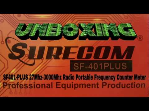 unboxing SF401-PLUS 27Mhz-3000Mhz Radio Portable Frequency Counter Meter with CTCCSS/DCS Decoder