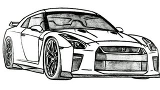 How to draw nissan gtr