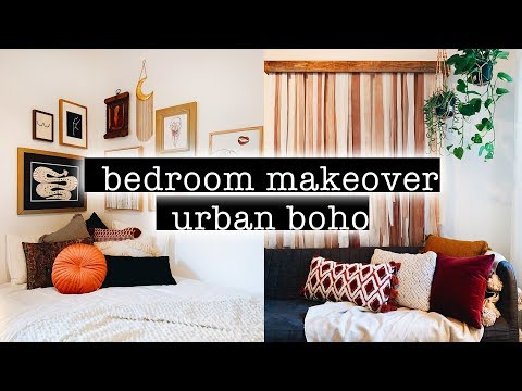 extreme-boho-bedroom-makeover-/-transformation-+-room-tour-2019-(simple-+-aesthetic-boho-room-decor)