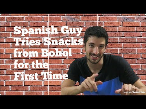 Spanish Guy Tries Snacks from Bohol for the First Time