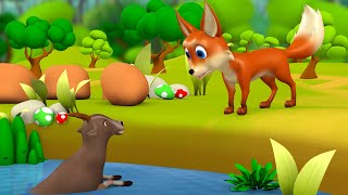 The Wise Goat and Fox Telugu Story - తెలివైన మేక, నక్క నీతి కధ 3D Animated Moral Stories for Kids