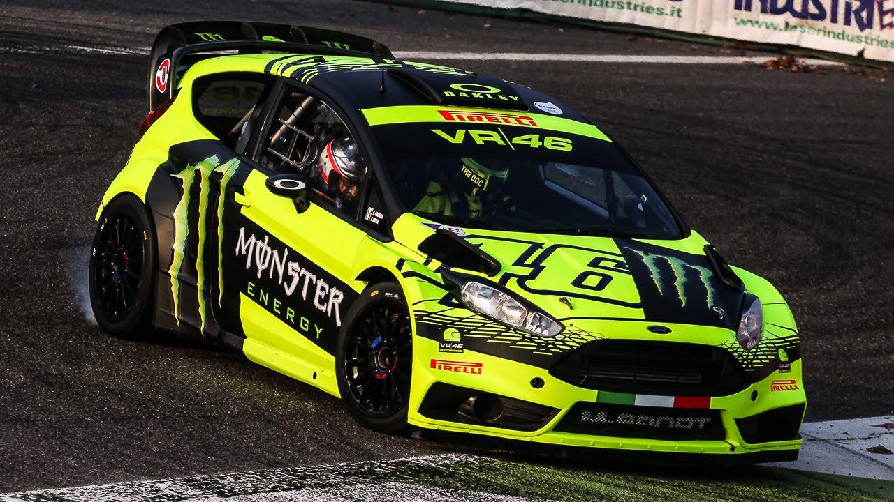 Wallpaper Mobil Sport Hd Valentino Rossi Ford Fiesta Wrc 2015 Monza Rally Show