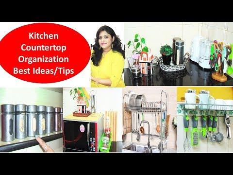 Kitchen Organization Ideas- Countertop Organization-cookwithparul kitchen tour-Kitchen Storage Idea