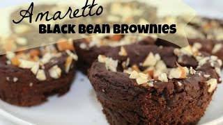 Amaretto Black Bean Brownies  *vegan* *gluten Free*