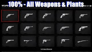 RDR2 All Compendium Weapons & Plants - Red Dead Redemption 2 PS4 Pro