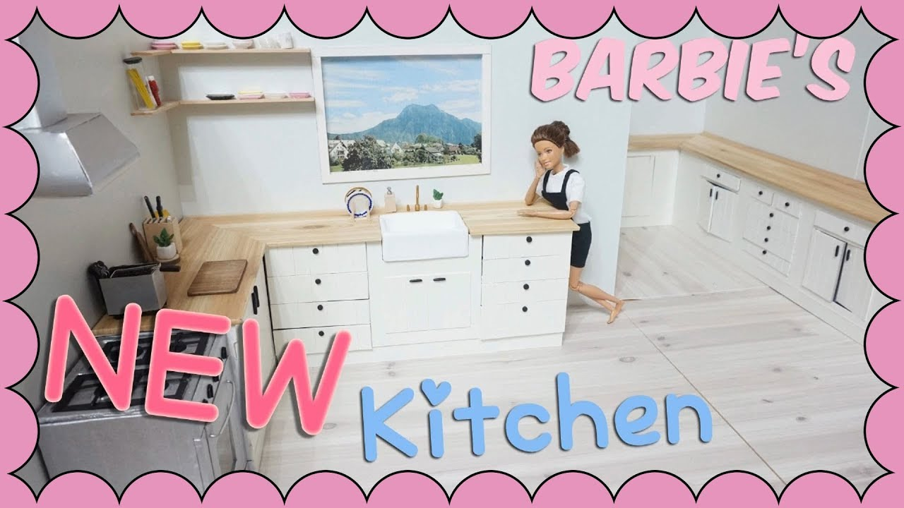 Barbie doll stop motion - New kitchen (making) - YouTube