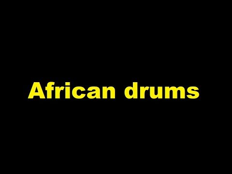 African drums sound effect