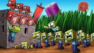 Minecraft | RED BASE VS ZOMBIE BASE CHALLENGE - Zombie Wars! (Zombie Infection)