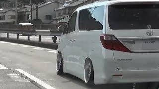 【走行動画】 トヨタ アルファード いい感じのツラ被り TOYOTA ALPHARD シャコタン 車高短 Lowered Lowcar exhaust