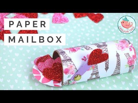 Toilet Paper Roll Box Mailbox - Valentine's Day Mailbox Paper Craft - Easy