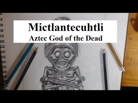 How to Draw Mictlantecuhtli, Aztec God of the Underworld