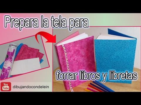 Como preparar tela para forrar libretas y cuadernos youtube - Como forrar muebles con tela ...