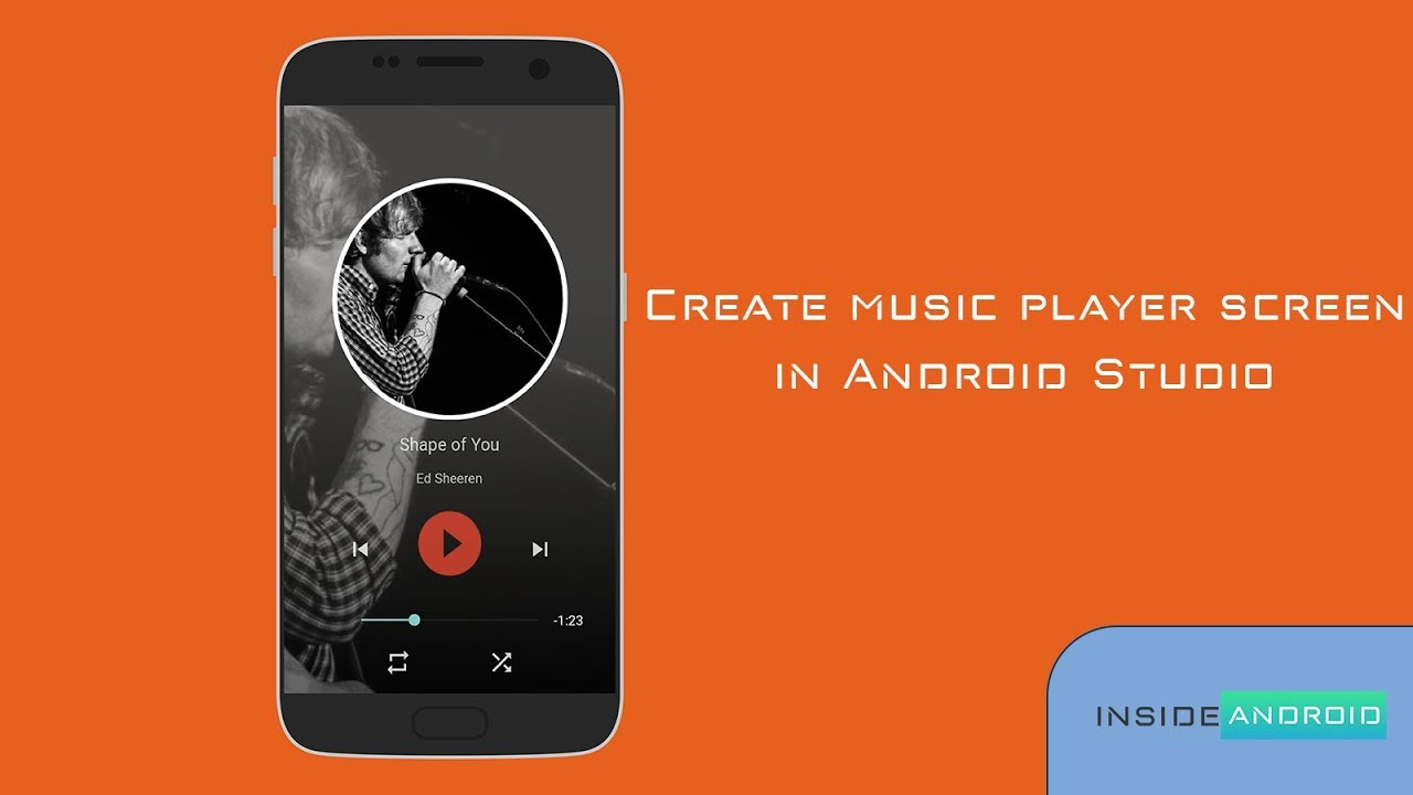 Music Player Screen In Android Studio Youtube