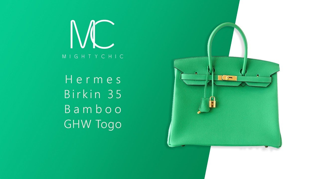 dba43d82f01 MIGHTYCHIC • Hermes Birkin 35 Bamboo GHW Togo Leather Unboxing - YouTube