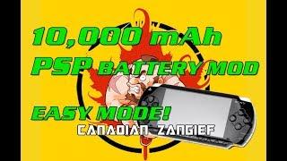 10,000 mAh Massive PSP Battery mod
