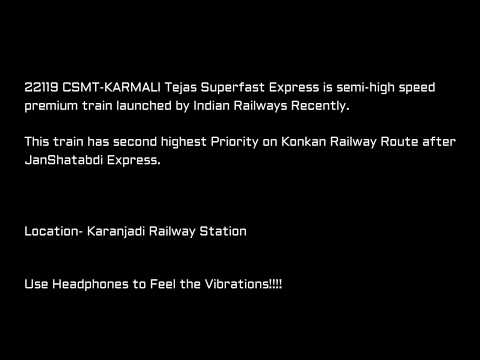 2 In 1 | High Speed Action On Konkan Railway At Karanjadi | Tejas + JanShatabdi