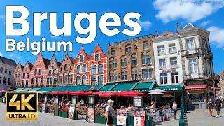 Bruges, Belgium Walking Tour (4k Ultra HD 60fps)