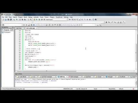 Prim's Algorithm for minimum spanning tree source code in C++
