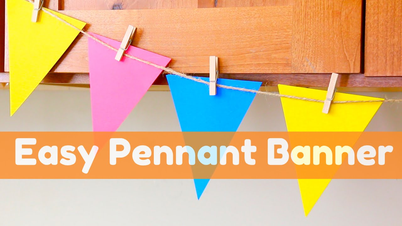 easy pennant banner how to cut 8 pennants from one 12x12 paper