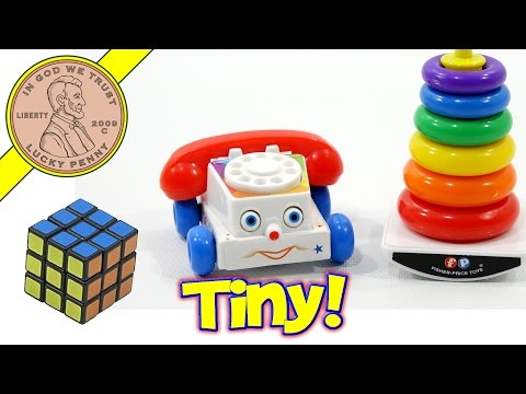 Worlds Smallest Toys That You Can Play With!  Fisher Price, Rubik's Cube!
