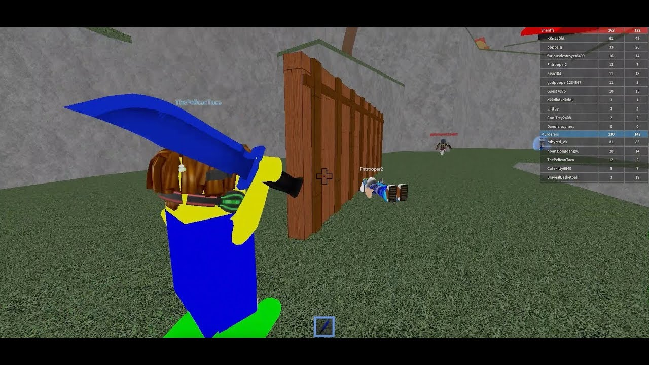Roblox Murderer Vs Sheriff Standoff Roblox Youtube