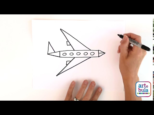 Draw an Airplane Flying