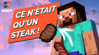 CENSURE du perso MINECRAFT de SMASH BROS. ULTIMATE... À cause d'un STEAK ? - JVCom DAILY